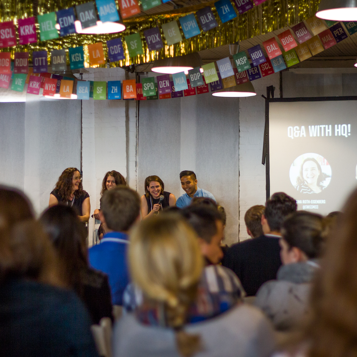 El HQ de CreativeMornings durante el Summit2014